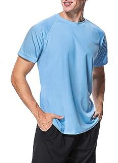 MeetHoo Men's Rash Vest, Rash Guard UV T Shirt UPF 50+ Top Sun Protection Short Sleeve Tee for Surfing Running Swimming
