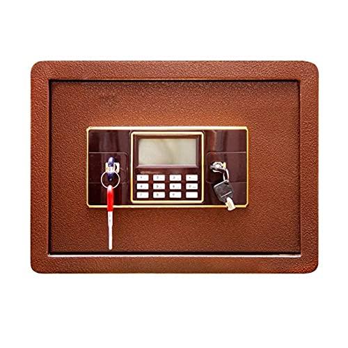DJDLLZY Caja fuerte de seguridad digital electrónica, acero sólido ocultos de construcción con el cerrojo de bloqueo en la pared Anclaje Diseño de joyería Home Office Hotel visita del arma efectivo Me