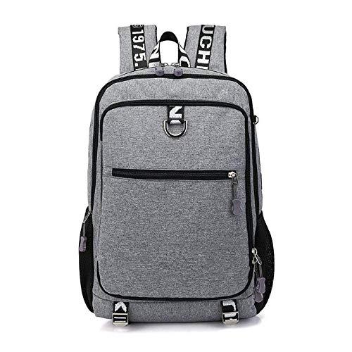 YIXIN Mochila para hombres de 15.6 pulgadas impermeable portátil mochila de tela Oxford duradera bolsa de trabajo viaje de negocios Daypack College senderismo camping deportes mochila