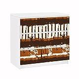 Apalis Möbelfolie für IKEA Malm Kommode Klebefolie Deko Ethno Streifen 3X 20 x 80cm