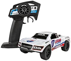 Everything included in the box -- just charge and go! Carl Renezeder short course replica body 2.4 GHz 2-channel transmitter Integrated ESC/receiver unit Integrated proportional servo