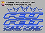 Ecoshirt 8V-F0G1-J9PR Pegatinas Felt F172 Vinilo Adesivi Decal Aufkleber Клей MTB Stickers Bike, Azul