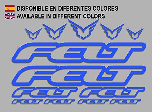 Ecoshirt 8V-F0G1-J9PR Aufkleber Felt F172 Vinyl Adesivi Decal Aufkleber 2/3/6 MTB Stickers Bike, blau