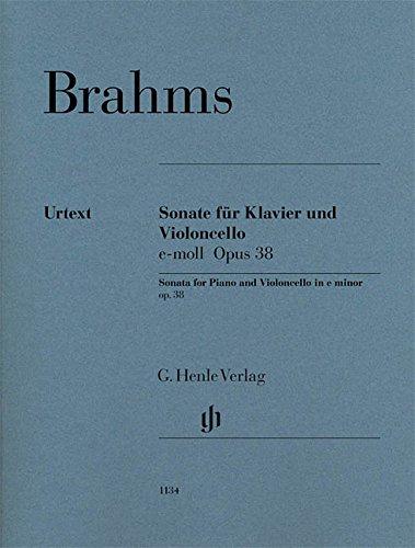 Sonate für Klavier und Violoncello e-moll op.38: revidierte Ausgabe