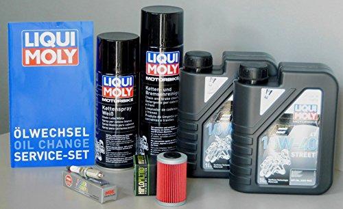 MotorFunSports Wartungs Set KTM 390 Duke Öl Ölfilter Zündkerze Kette Inspektion Service