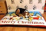 KosiPet® Deluxe Mattress Type Waterproof Dog Bed,Dog Beds,Pet Bed,Dogbed,Dogbeds,Petbed,Petbeds, (MERRY CHRISTMAS, LARGE)