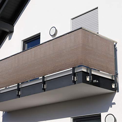 90x300/400/500/600cm Rivestimento Recinzione Copertura in HDPE per Balcone Giardino Privacy Frangivista e Telo Frangivento Telo di Protezione per Balconi Schermo Privacy Resistente ai Raggi UV