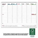 Planner settimanale da scrivania 2020 CON GIORNI STAMPATI, SETTIMANE E MESI - Weekly Planner - RILEGATO CON SPIRALE METALLICA - prodotto certificato FSC