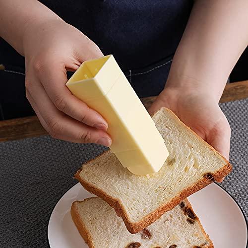 Syina Dispensador de mantequilla vertical con tapa, soporte para mantequilla, práctico y a prueba de polvo, para aplicar mantequilla en utensilios de cocina