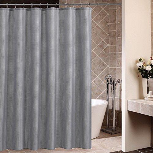 Norcho 180x180cm Karomuster Anti-Schimmel Duschvorhang, Wasserdichter Badvorhang mit 12 Duschvorhangringe für Badezimmer, Grau