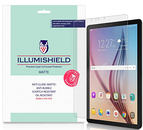 iLLumiShield Matte Screen Protector Compatible with Samsung Galaxy Tab S4 (10.5 inch, SM-T835)(2-Pack) Anti-Glare Shield Anti-Bubble and Anti-Fingerprint PET Film