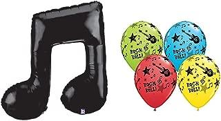 Black Music Note Foil Mylar Balloon & 11
