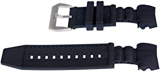 Vicdason for Invicta Reserve Jason Taylor Bolt Zeus Watch Bands Replacement Strap with Bukcle - Black Rubber Silicone Invicta Watch Strap