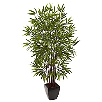 Nearly Natural Bamboo Silk Tree with Planter 5