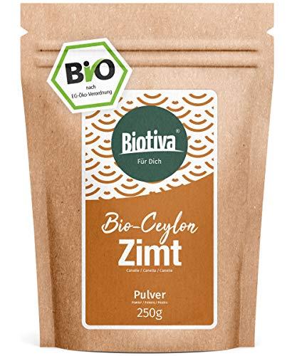 Bio Zimt Ceylon // Ceylon-Zimt gemahlen (Bio, 250g) I 100% Bio-Qualität I Großpackung im...