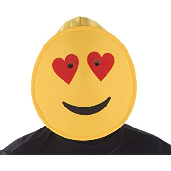 Dress Up America Smiling Hearts Emoji Mask For Kids Disfraces ...