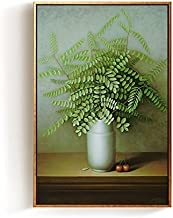 Paintsh Porch Decorative Painting Living Room Sofa Backdrop Wall Painting Bedroom Bedside Mural, 40 * 60Cm Cloth Art Black...