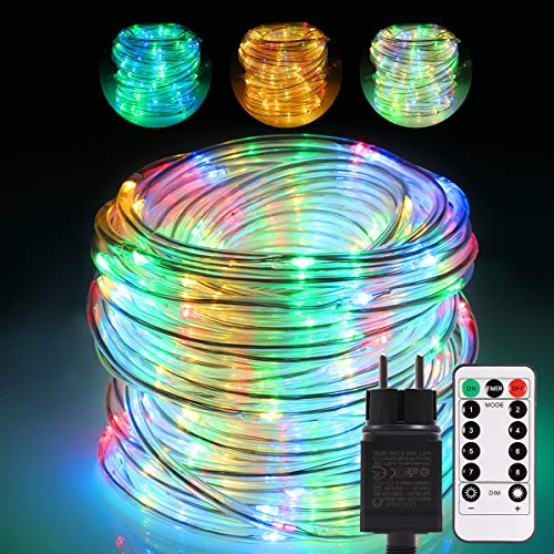 Led Lichtschlauch außen,GreenClick 20m lang 336 LEDs Lichterkette außen strom bunt Lichterkette IP65 Wasserdicht mit Fernbedienung Strip Schlauch Weihnachten Innen/outdoor Garten Party