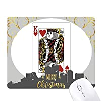 カードのギャンブルチップパターン遊び道具 クリスマスイブのゴムマウスパッド