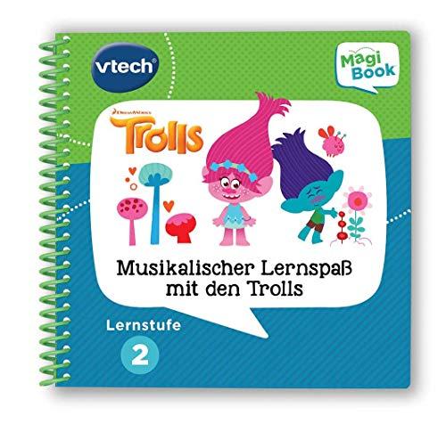 Vtech 80-480304 Lernstufe 2 - Musikalischer Lernspass mit den Trolls MagiBook Lernbücher, Mehrfarbig