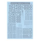 サンコーマーク工業 レプトジーダ プラモデル用 水転写 WING DECAL SERIES グレー 13.5×19.5cm WM-03