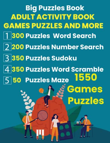 Compare Textbook Prices for Adult Activity Book Games Puzzles And More: Includes Puzzles Word Search, Puzzles Number Search, Puzzles Sudoku, Puzzles Word Scramble, and Puzzles Maze  ISBN 9798495351103 by Of Store, King