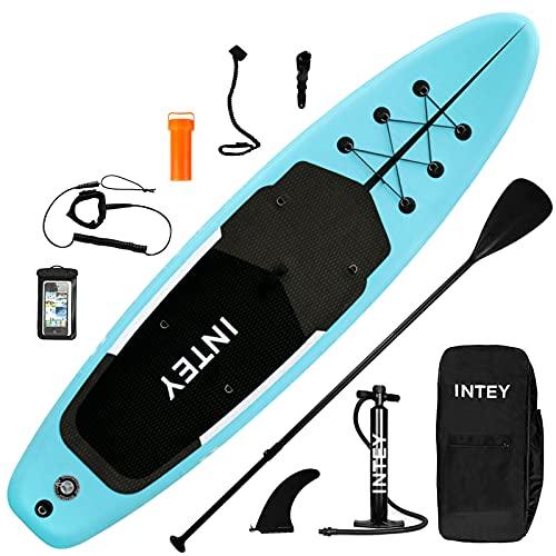 inty Stand Up Paddle Board Inflable, Paddle de PVC/EVA con Remo Ajustable, Bomba de Doble acción, Correa de Transporte, Caja de reparación, alerón (RY-312)