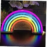 linjunddd Arco Iris De Color Led Luz De La Decoración Sitio Ligero De Alimentación Conveniente