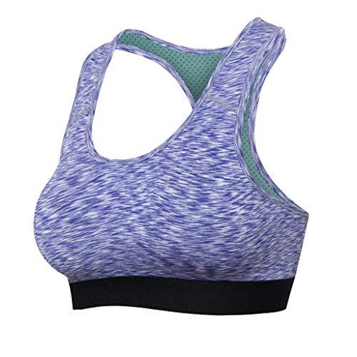 Luotuo Damen Sport Unterwäsche Atmungsaktiv Sport-BH Yoga Fitness Tank Tops Padded Schnell trocknend Elastizität Dessous Laufen Trainieren Underwear