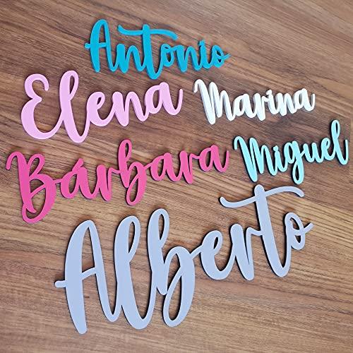 KARIVOO Nombres de madera personalizados para decorar dormitorio infantil, armario o puerta...