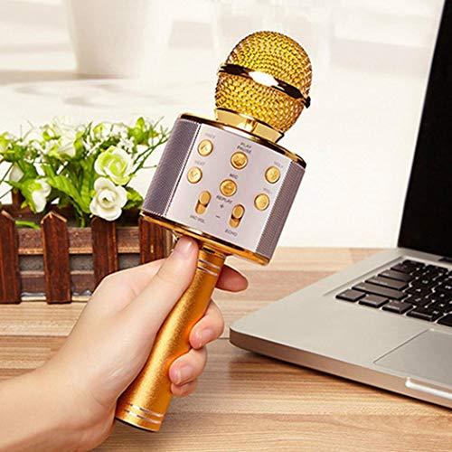 Pagacat Wireless Bluetooth Micrófono Audio Teléfono móvil Micrófono de Karaoke Accesorios