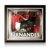 exclusivememorabilia.com Bota de fútbol firmada por Bruno Fernandes. Presentación enmarcada de Portugal