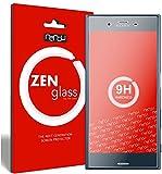 ZenGlass [2 Stück Flexible Glas-Folie kompatibel mit Sony Xperia XZ Panzerfolie I Bildschirm-Schutzfolie 9H I (Kleiner Als Das Gewölbte Bildschirm)
