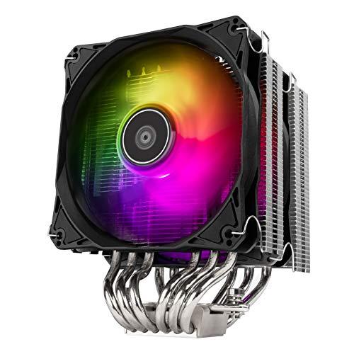 Silverstone Hydrogon D120 ARGB, Disipador Dual para CPU Torre con 6 Tubos isotérmicos y Ventiladores ARGB duales de 120mm, SST-HYD120-ARGB