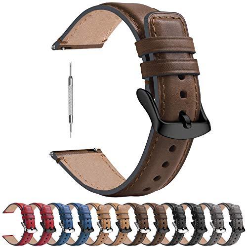 Fullmosa 3 Colores para Correa Reloj de Cuero Pulido 18 mm/20 mm/22...