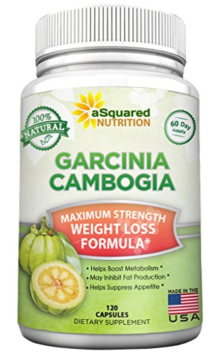 100% Pure Garcinia Cambogia Extract - 120 Capsules, Ultra High Strength HCA, Natural Weight Loss Diet Pills XT, Best Extreme Fat Burner Slim & Detox Max, Premium Blocker for Men & Women, Made in USA