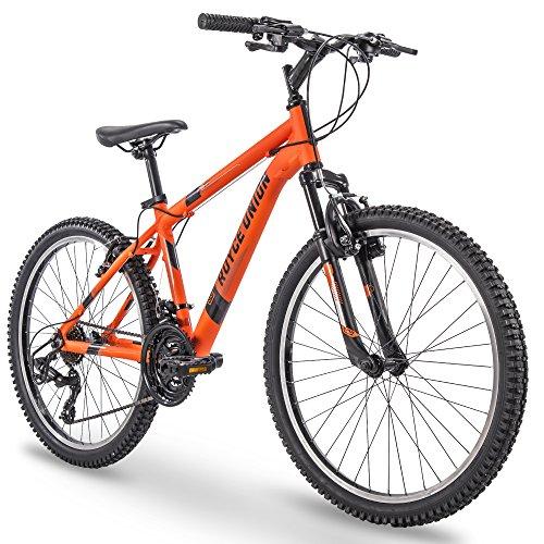 """24"""" Royce Union RTT Mens 21-Speed Mountain Bike, Aluminum Frame, Trigger Shift, Matte Tangerine (74408)"""