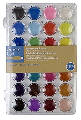 Artist's Loft Watercolors Pan Set 28 Color