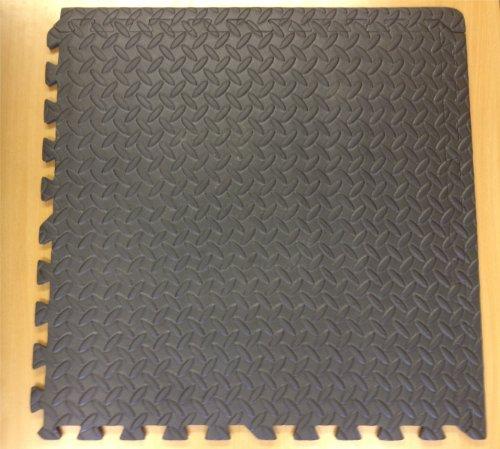 4 x, Anthrazit Schwarz, Schaumstoff/Eva-Material, zum Zusammenstecken,-Matten (1,4 m)