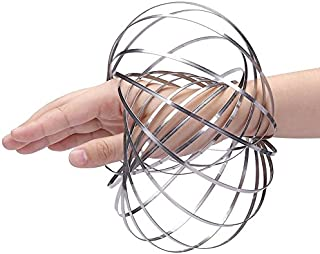 DE Kinetic Educational Spring Toy - Multi Sensory Interactive 3D Shaped Flow Ring