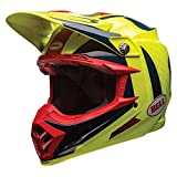 BELL Cascos MX 2017Moto-9Flex adultos casco, Vice, color azul/amarillo, talla 2X L
