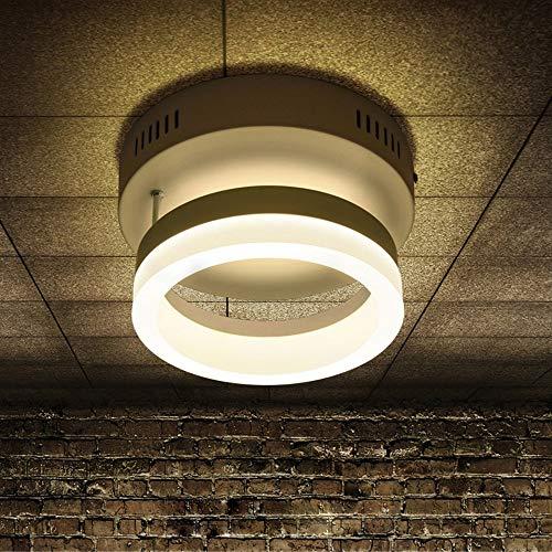 LED Modern Schlafzimmer Dekorationen Flur Aisle Lampe Einfaches Runde Deckenleuchte Modern Kreativ Balkon Decke Licht Acryl Deckenlampe 20cm 12W 3000K Korridor kleines Schlafzimmer Beleuchtung Meta