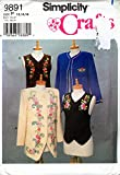 Simplicity 98911996 Misses Jackets and Vests; Sizes 12-16
