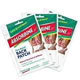 Absorbine Jr. Therapeutic Pain Relief Back Patch, Relieves Sore Muscles and Arthritis Pain, XL, (Pack of 3)