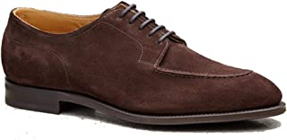 Costoso Italiano Brown Suede Formal Lace Up Dress Derby Goodyear Welted Shoes for Men