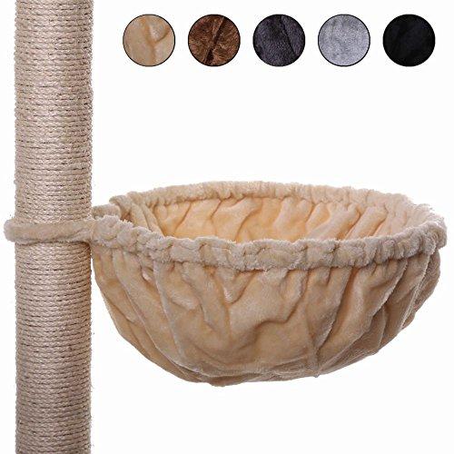 dibea Liegemulde für Kratzbäume, Schlafsack für Katzen, extra tief, besonders robust (40 cm, beige)