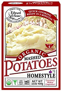 Edward & Sons Organic Mashed Potatoes Home Style, 3.5 Ounce Boxes (Pack of 6)