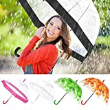 ASAB Clear Dome See Through Umbrella - Windproof Automatic - Strong, Lightweight, Transparent, Waterproof -...