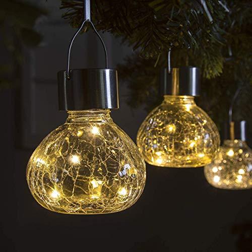 GIGALUMI Solar Hanging Lights Christmas Decoration