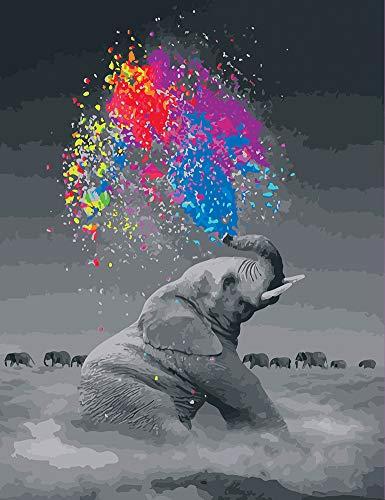 WONZOM Malen nach Zahlen DIY Acrylfarben Gemälde Kit für Erwachsene und Kinder - 16